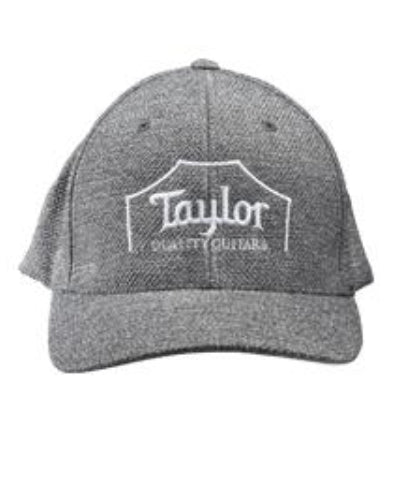 Taylor Flex Fit Cap, Crown Logo, Melange Heather S/M