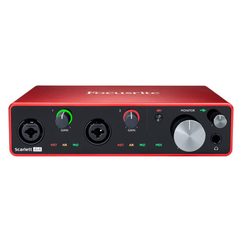 Focusrite Scarlett 4i4 3rd Generation 4-in, 4-out USB Audio Interface