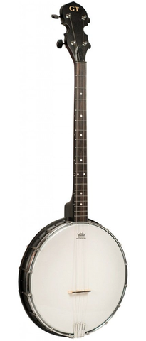 Gold Tone AC-4 Acoustic Composite 4-String Openback Tenor Banjo, Satin Black
