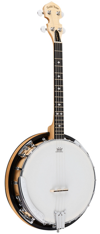 Gold Tone Cripple Creek 4-String Irish Tenor Banjo with Resonator, Natural