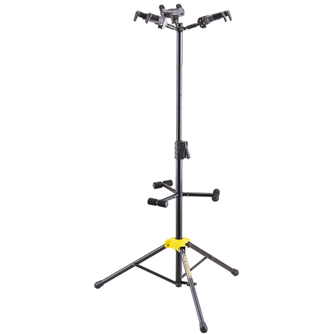 (3) Hercules GS432B+ Triple Stand Guitar Stand