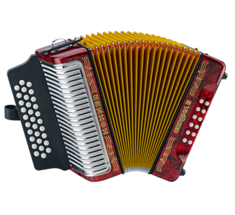 Hohner Corona II 3500GR Diatonic Accordion, Keys of G/C/F