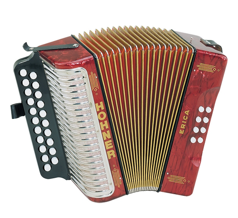 Hohner Erica Two Row Accordion A/D