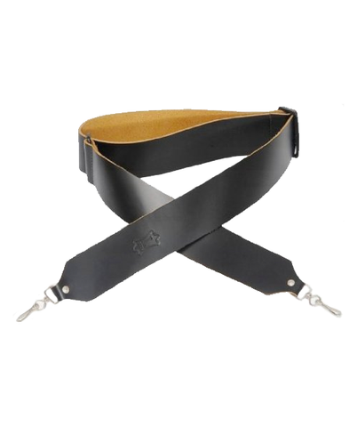 "Levy's 2"" Leather Banjo Strap (L-M9-BLK)"