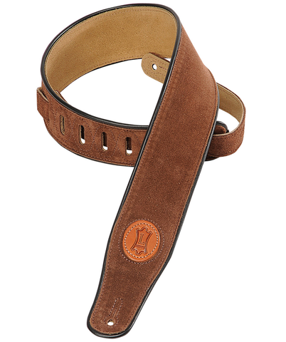 "Levy's 2.5"" Signature Series Suede Guitar Strap, Brown (L-MSS3-BRN)"