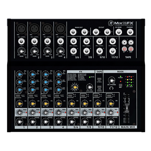 Mackie MIX12FX 12-Channel Compact Mixer with Effects