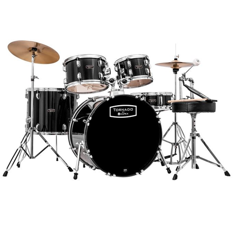 Mapex Tornado Rock/Fusion Hybrid Drum Set, Black