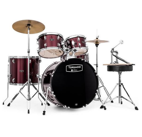 Mapex Tornado Rock/Fusion Hybrid Drum Set, Burgundy