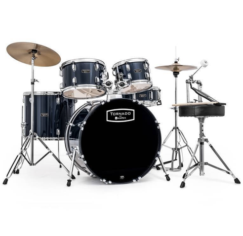 Mapex Tornado Rock/Fusion Hybrid Drum Set, Dark Blue