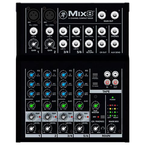 Mackie MIX8 8-Channel Compact Mixer