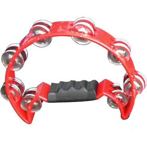 Mano Percussion MP-TC-RD Cutaway Tambourine, Red
