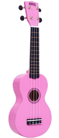 "Mahalo M1 Rainbow ""R"" Series Ukulele with Bag, Pink"