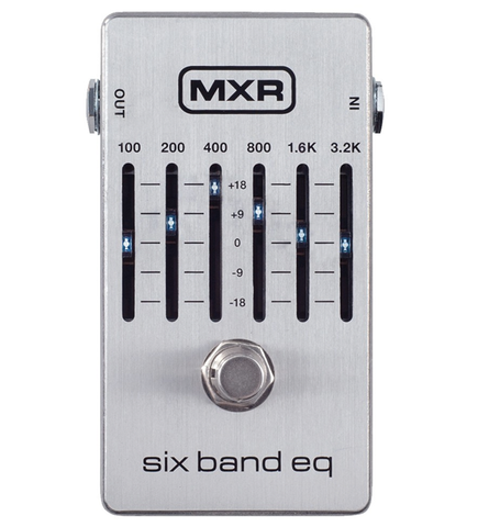 MXR M-109S 6-Band Graphic EQ, Silver