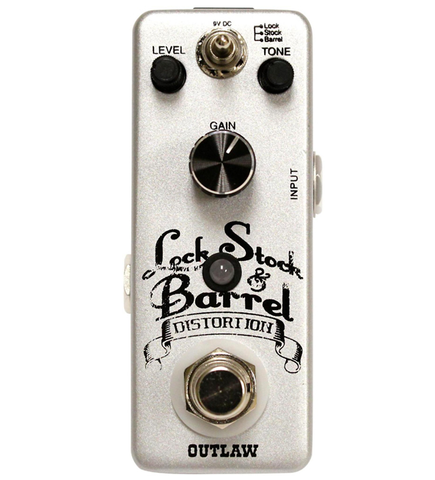 Outlaw Effects Lock, Stock & Barrel Distoriton Guitar Effects Pedal