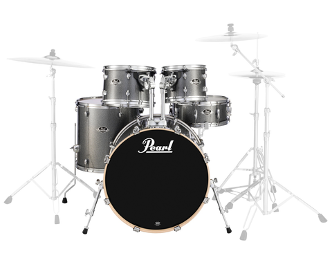 "Pearl Export (708) Standard 5 Piece Shell Pack, Grindstone Sparkle (22"" Bass, 10"",12"", 16"" Toms, 14"" Snare)"