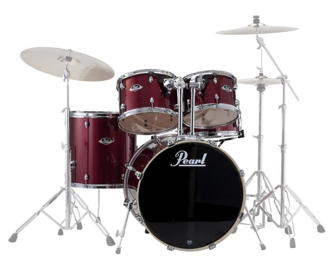 "Pearl Export (91) Standard 5-Piece Drum Shell Pack, Red Wine (22"" Bass, 10"",12"", 16"" Toms, 14"" Snare)"