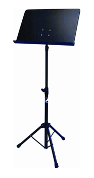 Profile MS-140B Fold-Up Solid Back Music Stand, Black