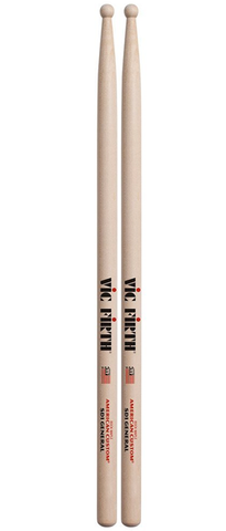 Vic Firth SD1 General American Classic Hickory Drumsticks, Wood Tip