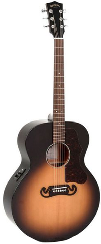 Sigma SG Series GJM-SGE Grand Jumbo Acoustic-Electric, Vintage Sunburst
