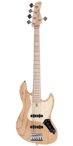 Sire Marcus Miller V-Series V7 5-String (Ash) 2nd Generation Electric Bass, Swamp Ash