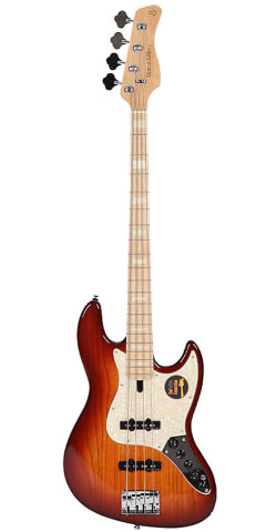 Sire Marcus Miller V-Series V7 4-String (Swamp Ash) 2nd Generation Maple Neck - Tobacco Burst