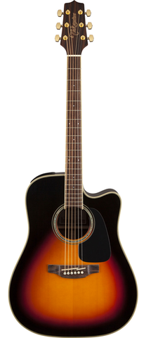 Takamine G50 Series GD51CE-BSB Dreadnaught Acoustic-Electric Guitar, Brown Sunburst