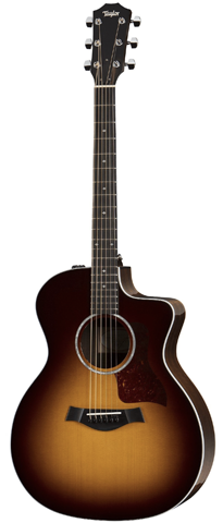 Taylor 214ce DLX SB Grand Auditorium Acoustic-Electric, Sunburst