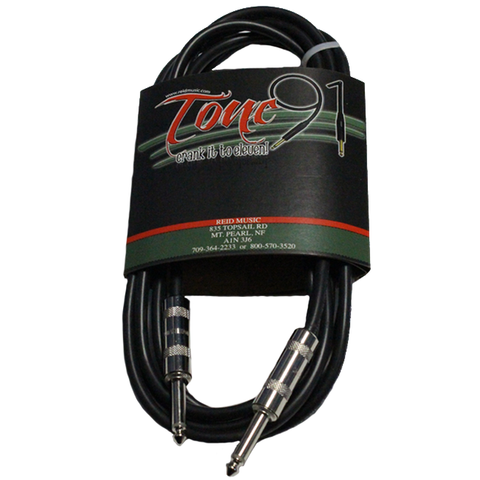 Tone91 (SEG-10) Stagemaster Standard Guitar / Instrument Cable, 10 Foot
