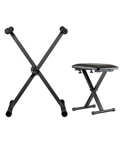 Yamaha NBP-2300 Folding 'X' Keyboard Stand & Bench Package