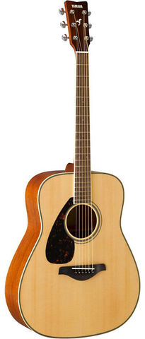 Yamaha FG820L Left-Handed Dreadnought Acoustic, Natural