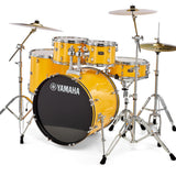 Yamaha Rydeen 5-Piece Drum Set (20,10,12,14,Snare) w/Hardware, Cymbals and Throne, Yellow