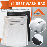 NEW Delicates Laundry Wash Bags for Lingerie, Bras, Hosiery. Durable Mesh, 4 Bag Set
