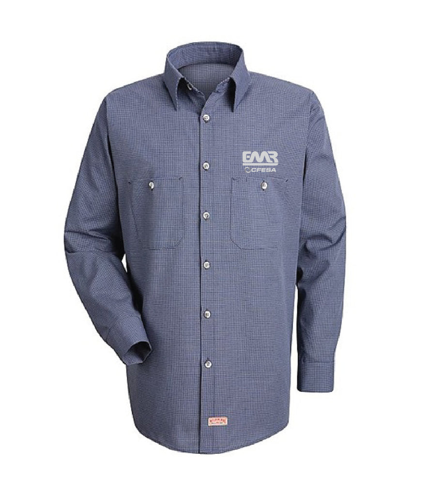 Micro Check Long Sleeve Shirt-Indicate name by adding a note to your shopping cart