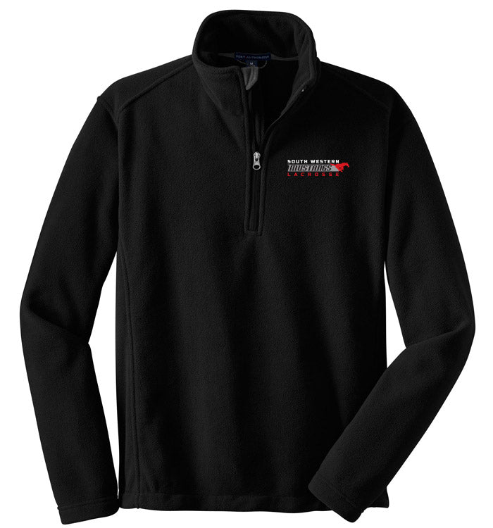 Port Authority Black 1/4 Zip Fleece Pullover