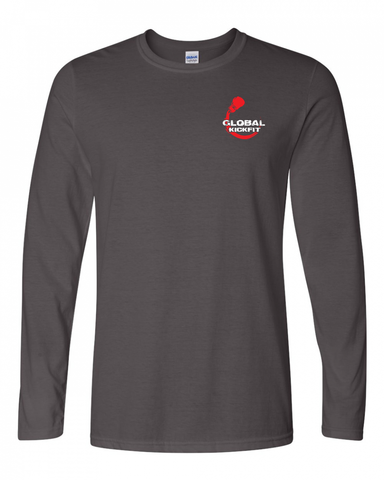 Gildan Adult Softstyle® 4.5 oz. Long-Sleeve T-Shirt-Global Kickfit logo