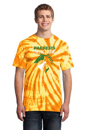 Yellow Tye Dye Cheer Shirt