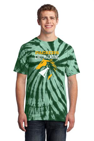 Green Tye Dye Cheer Shirt
