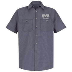 Micro Check Short Sleeve Shirt-Indicate name by adding a note to your shopping cart