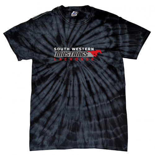 Tie Dyed Black Short Sleeve T-Shirt