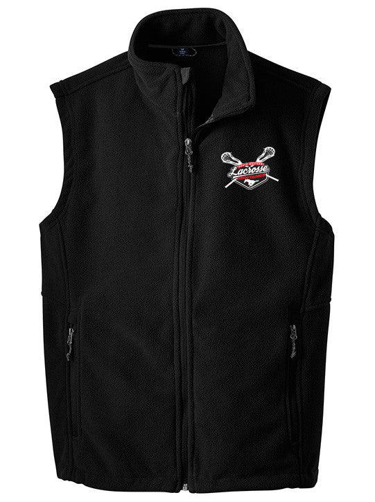 Port Authority Black Full Zip Up Fleece Vest