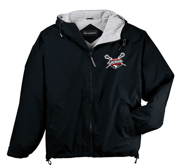 Port Authority Black Hooded Team Jacket