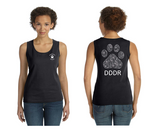 Live and Tell --Paw Print--Lady's Tank Top