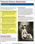 Quick Sheet: Tracing Female Ancestors