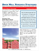 Quick Sheet: Brick Wall Research Strategies