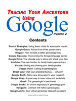 Tracing Your Ancestors Using Google Volume 2 - $8.50 for PDF & $9.95 for Print Edition