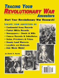 Tracing Your Revolutionary War Ancestors - $8.50 for PDF & $9.95 for Print Edition