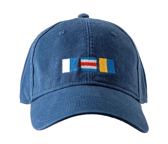 ACK Signal Flags on Navy Hat