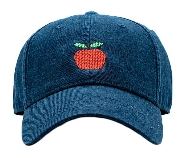 Apple on Navy Hat