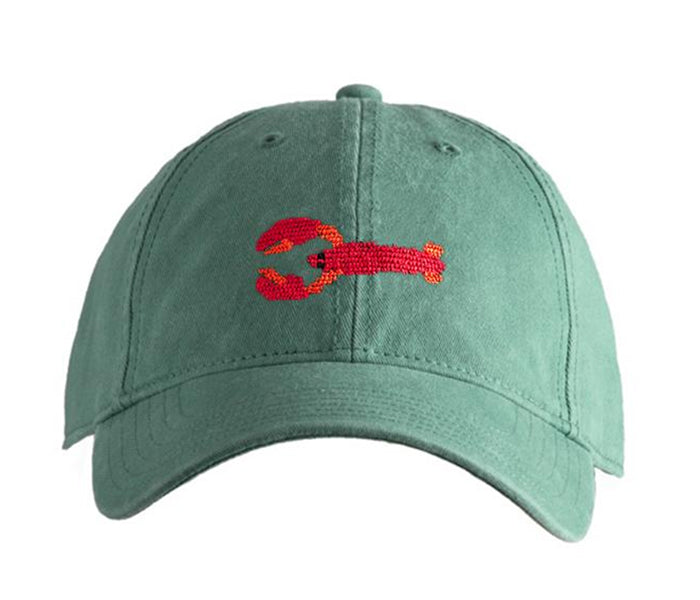 Lobster on Moss Green Hat