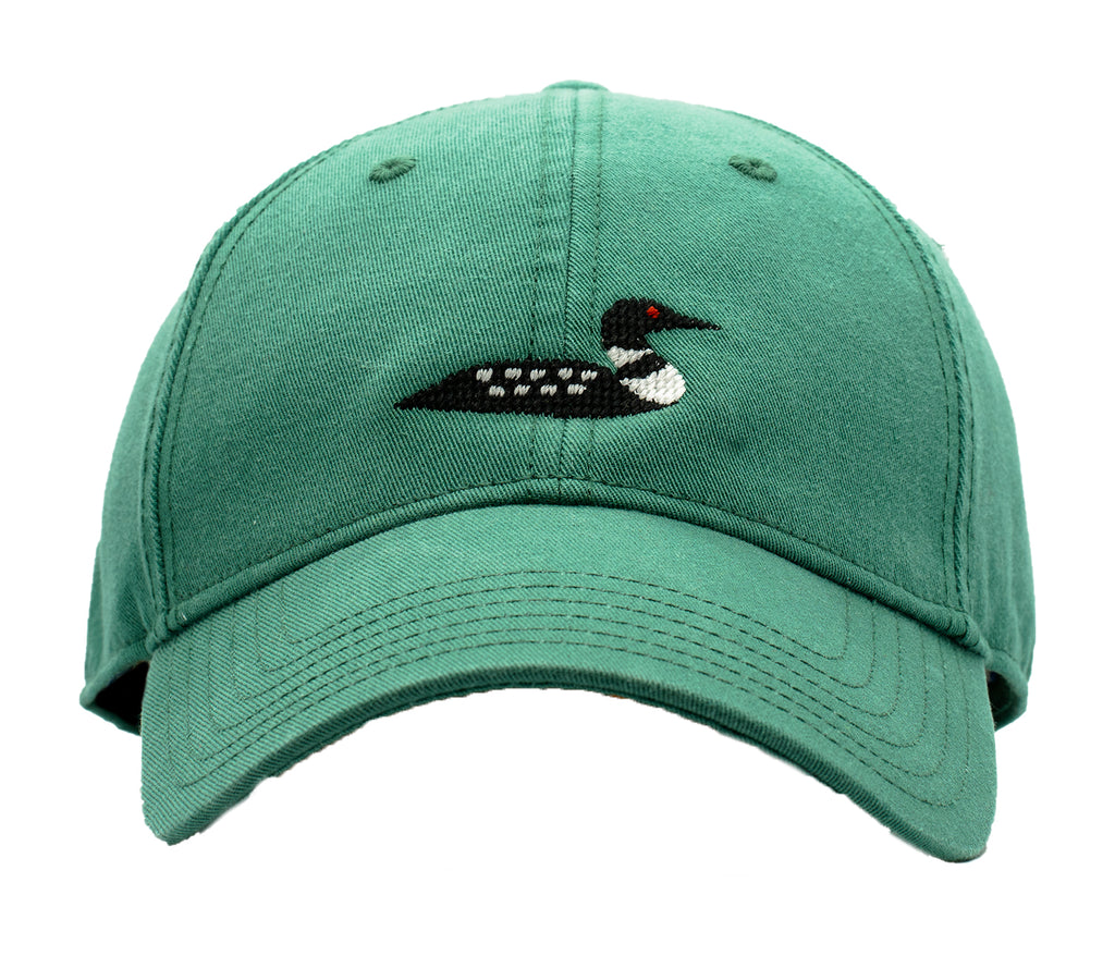 Loon on Moss Green Hat